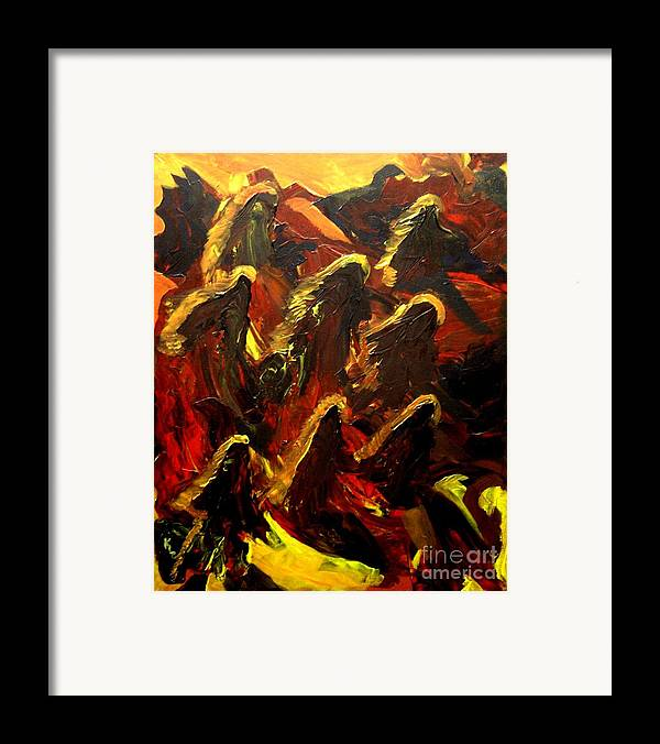 Dragon Framed Print featuring the painting Dragon Fire by Karen L Christophersen