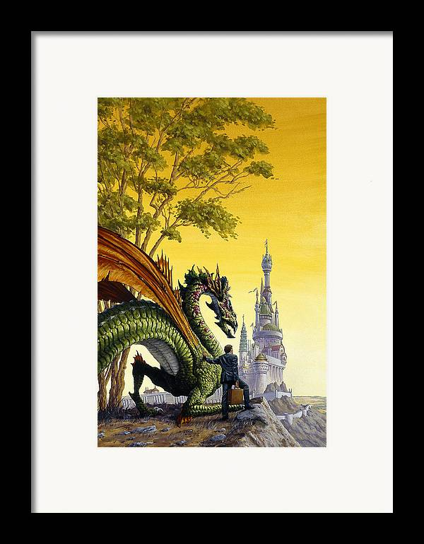 Dragon Framed Print featuring the painting Dragon For Sale by Richard Hescox