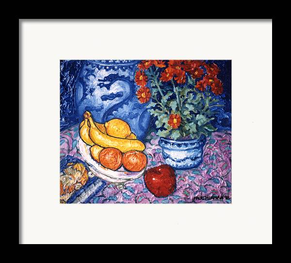 Still Life Framed Print featuring the painting Dragon Vase by Paul Herman