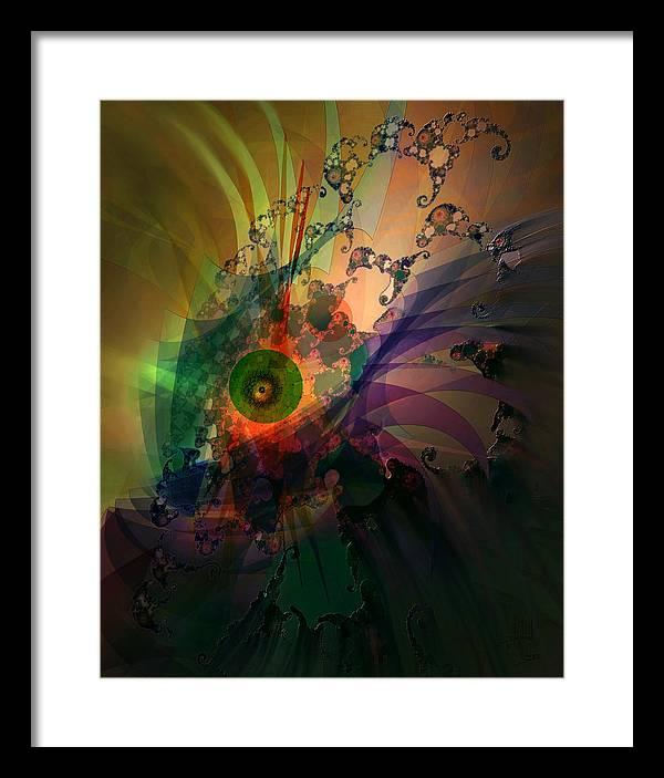Dragon Framed Print featuring the digital art Dragon Wisdom Eye by Stephen Lucas