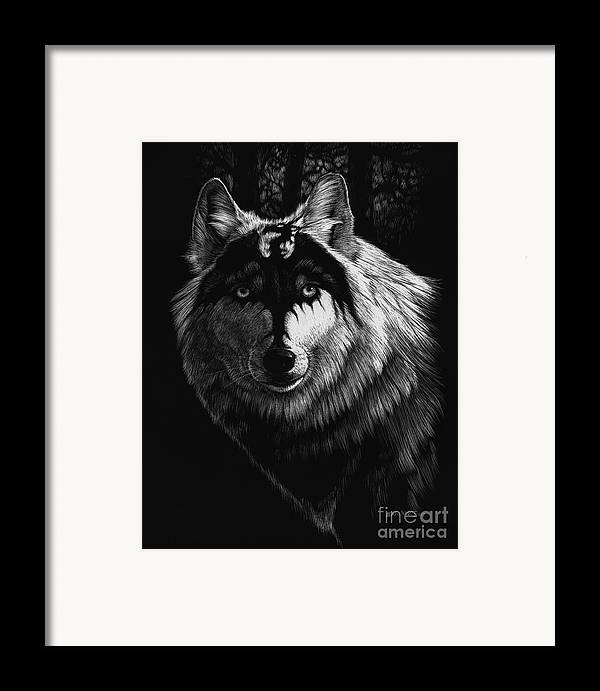 Wolf Framed Print featuring the painting Dragon Wolf by Stanley Morrison