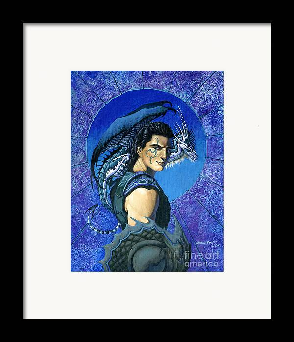 Dragon Framed Print featuring the painting Dragoneer by Stanley Morrison