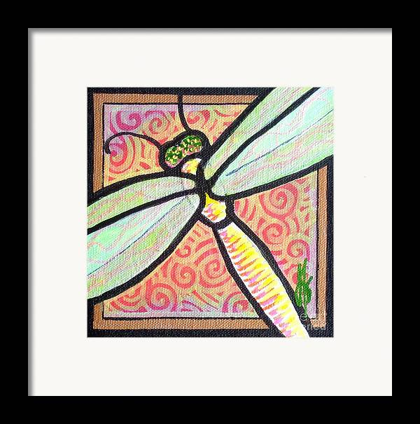 Dragonfly Framed Print featuring the painting Dragonfly Fantasy 3 by Jim Harris