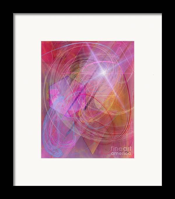 Dragon's Gem Framed Print featuring the digital art Dragon's Gem by John Beck