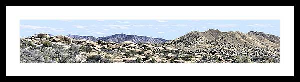 Photography Framed Print featuring the photograph Dragoon Mountains Panorama by Sharon Broucek