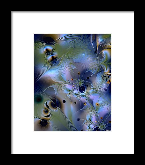 Abstract Framed Print featuring the digital art Drama Of Indifference by Casey Kotas
