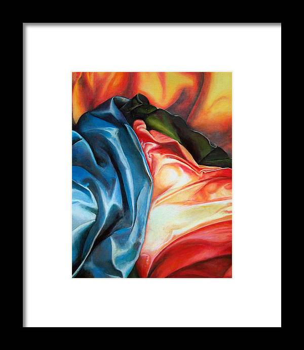 Drap Framed Print featuring the painting Drape by Muriel Dolemieux