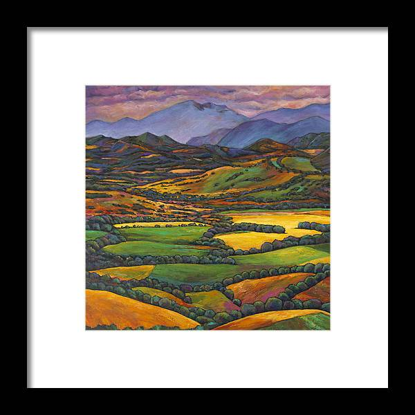 European Landscape Framed Print featuring the painting Draped In A Dream by Johnathan Harris