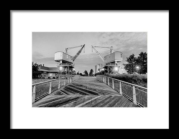 Architecture Framed Print featuring the photograph Dravo Plaza by AE Jones