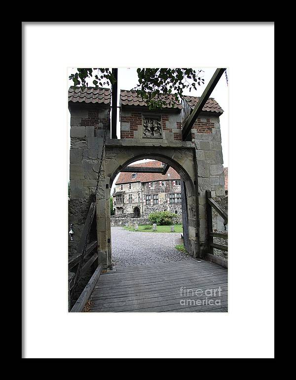 Draw Bridge Framed Print featuring the photograph Draw Bridge by Christiane Schulze Art And Photography