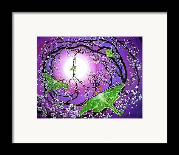 Acrylic Painting Framed Print featuring the painting Drawn To The Light by Laura Iverson