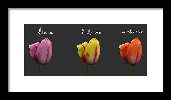 Dream Framed Print featuring the photograph Dream Believe Achieve by Patricia Ridlon