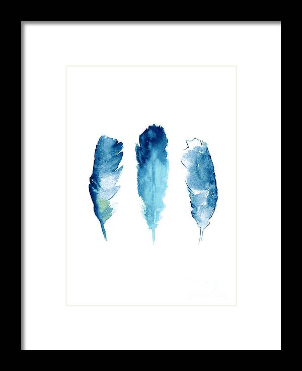 Dream Catcher Framed Print featuring the painting Dream Catcher Feathers Painting by Joanna Szmerdt