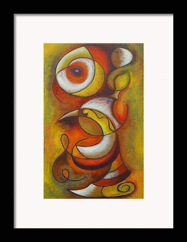 Abstract Expressionism Framed Print featuring the painting Dream Catcher by Marta Giraldo
