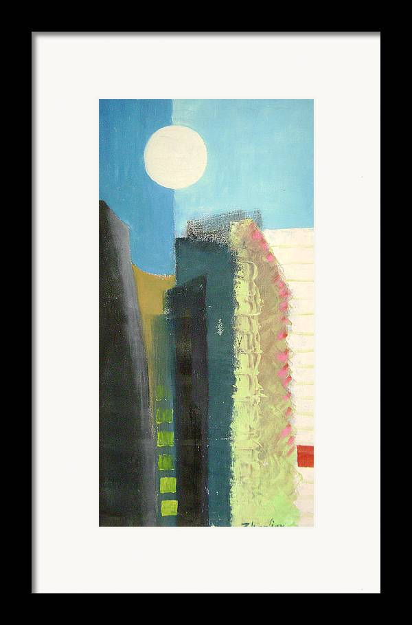 Abstract Framed Print featuring the painting Dream City No.2 by Lian Zhen