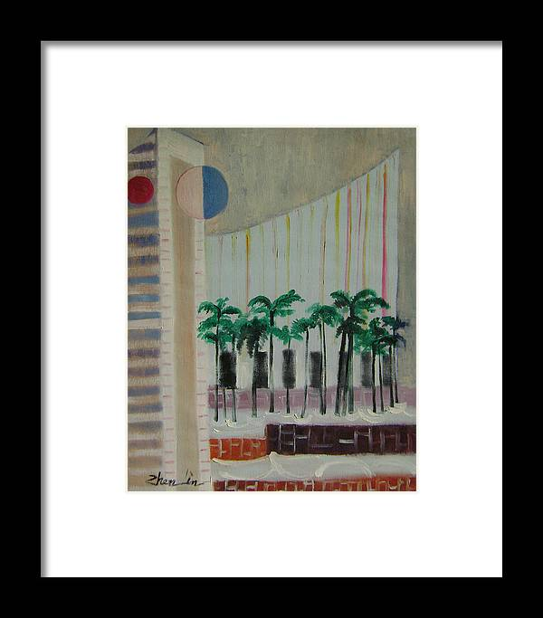 Abstract Framed Print featuring the painting Dream City No.7 by Lian Zhen