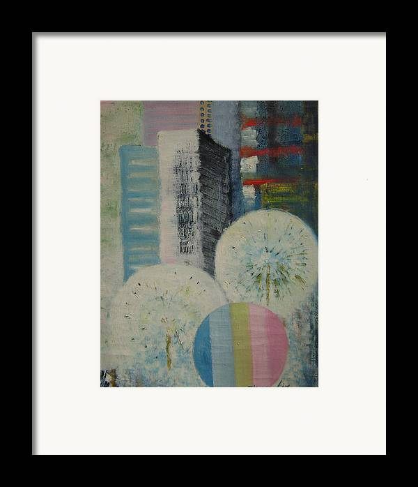Landscape Framed Print featuring the painting Dream City No.8 by Lian Zhen