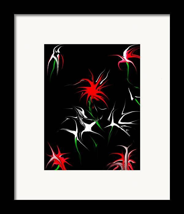 Abstract Framed Print featuring the digital art Dream Garden II by David Lane