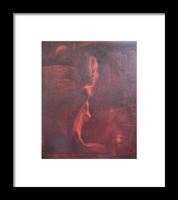 Ignatenko Framed Print featuring the painting Dream in hot night by Sergey Ignatenko