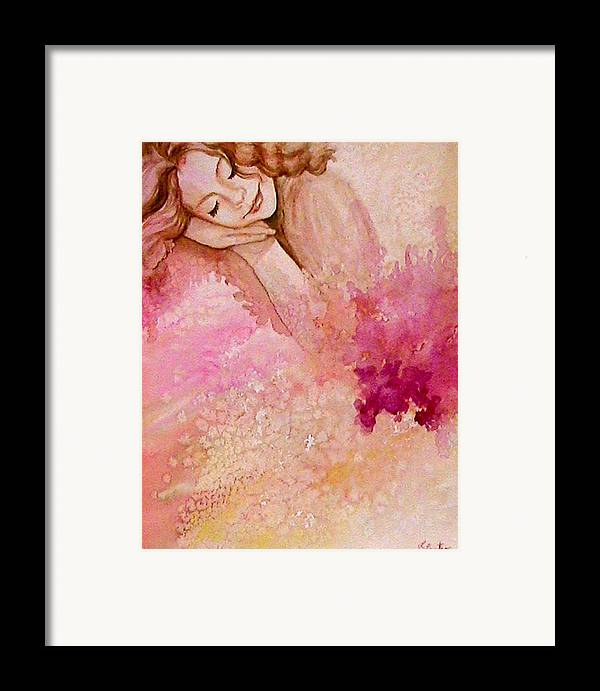 Portrait Framed Print featuring the painting Dream by L Lauter