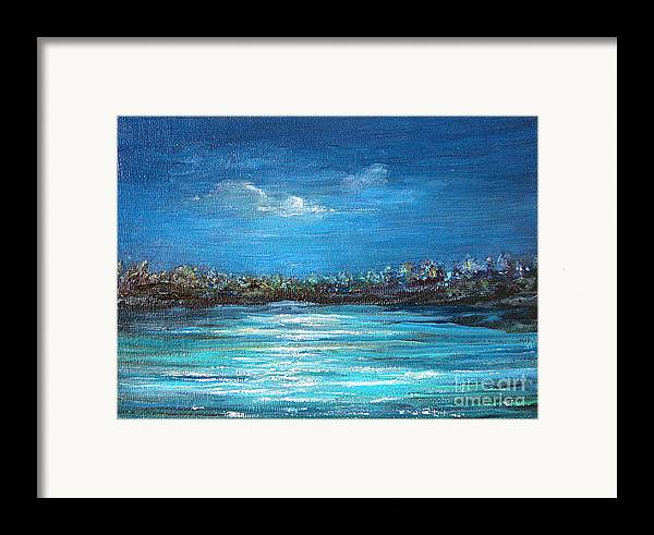 Seascape Framed Print featuring the painting Dream Night by Jeannette Ulrich