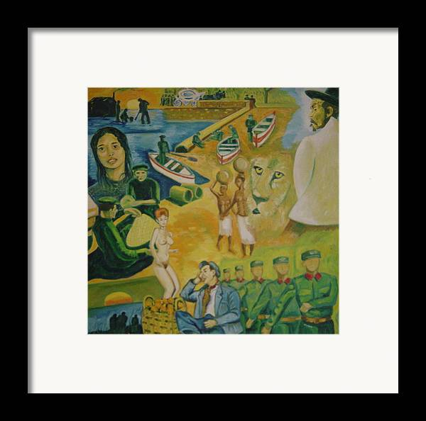 Framed Print featuring the painting Dream Of Peddler Of Oranges by Biagio Civale