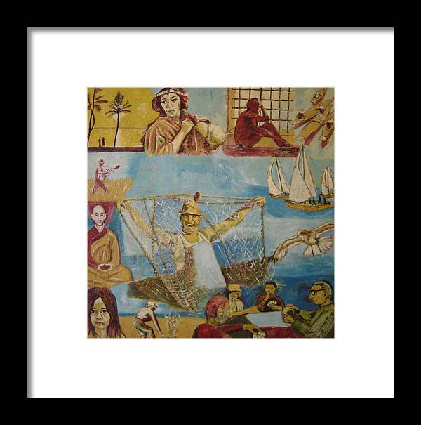 Framed Print featuring the painting Dream Of The Fisherman by Biagio Civale