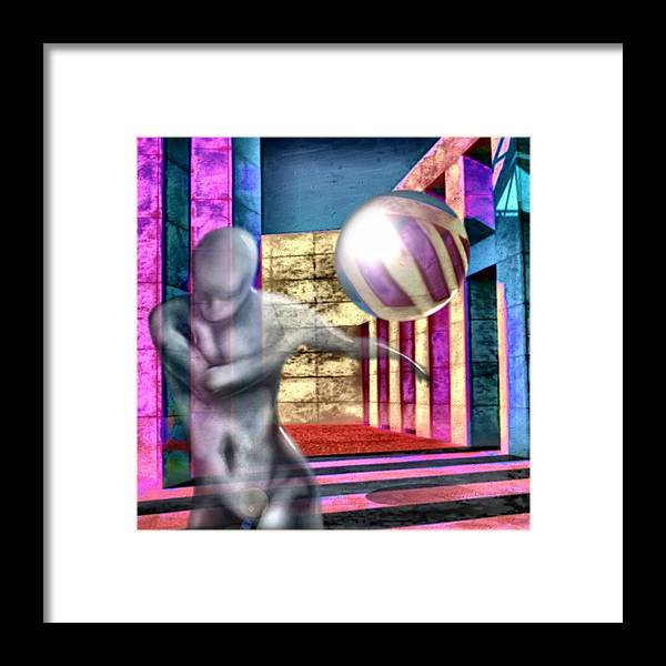 Playground Game Ball Colors Framed Print featuring the digital art Dream Play by Veronica Jackson