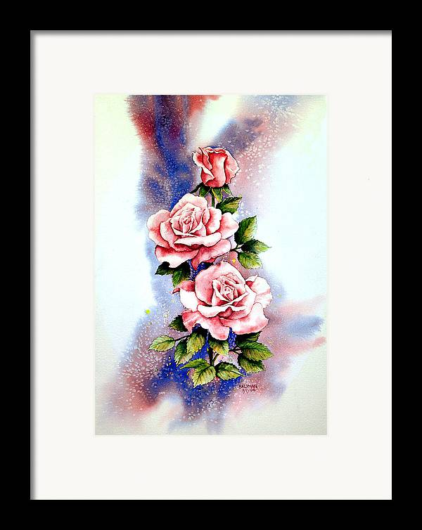 Floral Framed Print featuring the painting Dream Roses by Brooke Lyman