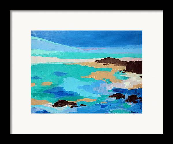 Maine Framed Print featuring the painting Dream Scape 14 by Laura Tasheiko