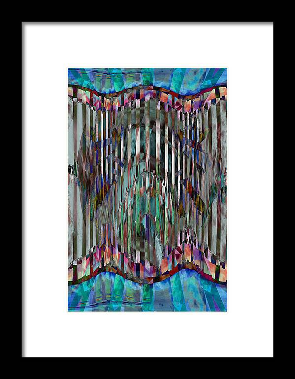 Quilt Framed Print featuring the digital art Dream Trap by Gae Helton