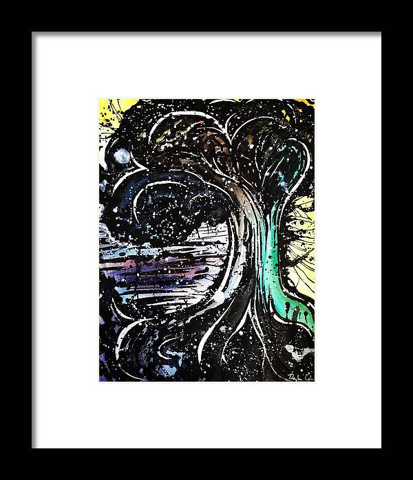 Watercolor Framed Print featuring the painting Dream Tree by Daryl-Ann Cole