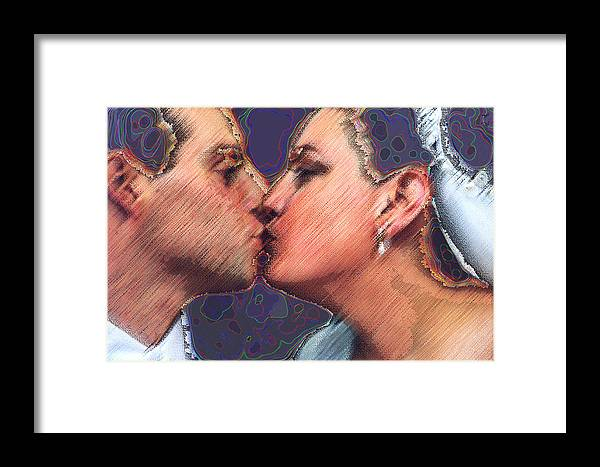 Wedding Framed Print featuring the digital art Dream Wedding by JoAnne Castelli-Castor