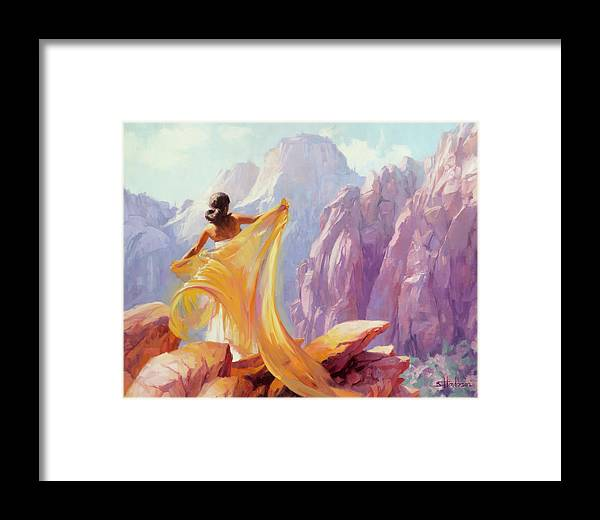 Southwest Framed Print featuring the painting Dreamcatcher by Steve Henderson