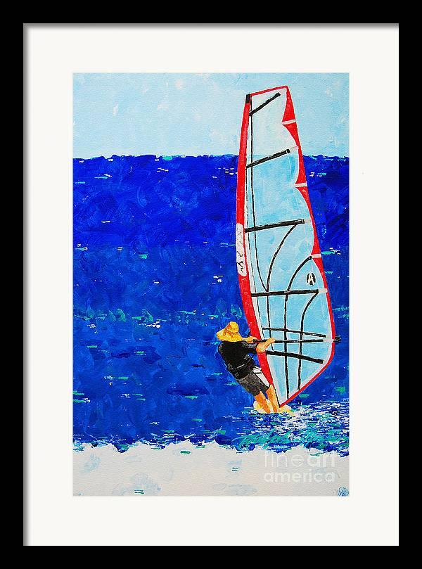 Beach Art Framed Print featuring the painting Dreamer Disease IIi by Art Mantia