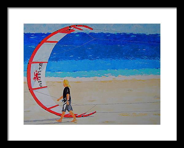 Beach Art Framed Print featuring the painting Dreamer Disease Vi Water And Wind by Art Mantia