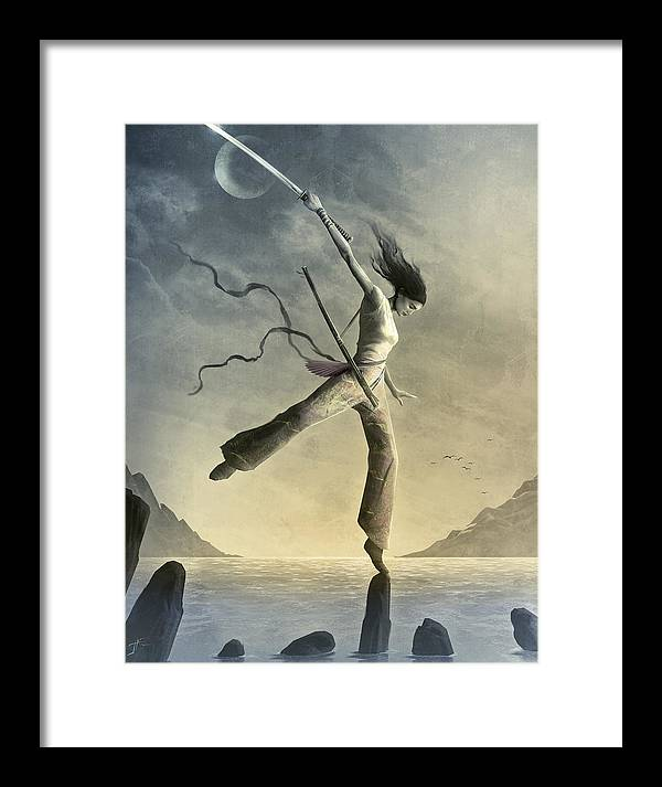 Zen Framed Print featuring the painting Dreamfall by Jason Engle