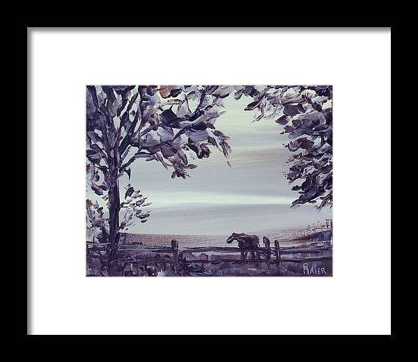 Horse Framed Print featuring the painting Dreamin by Pete Maier