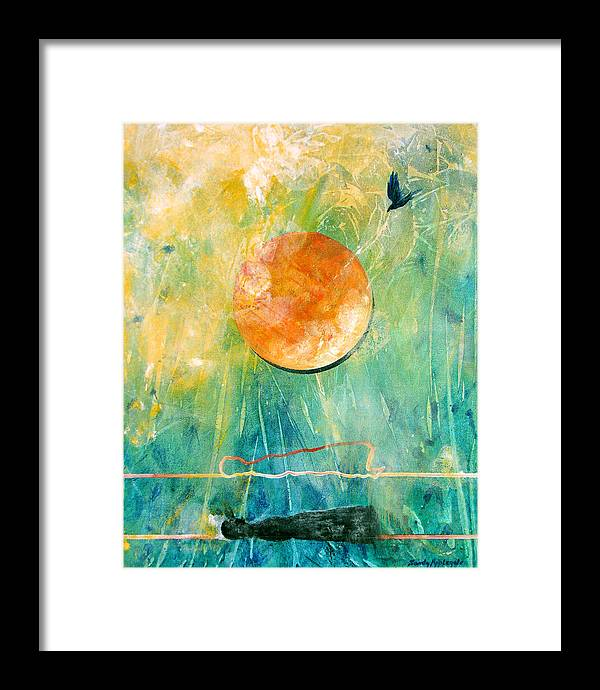 Raven Framed Print featuring the painting Dreaming Dreams by Sandy Applegate