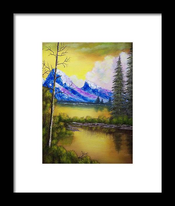 Landscape Framed Print featuring the painting Dreaming In Color by Charles Vaughn