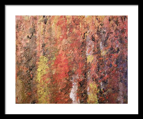 Abstract Framed Print featuring the painting Dreaming In Fall Colors by Don Phillips