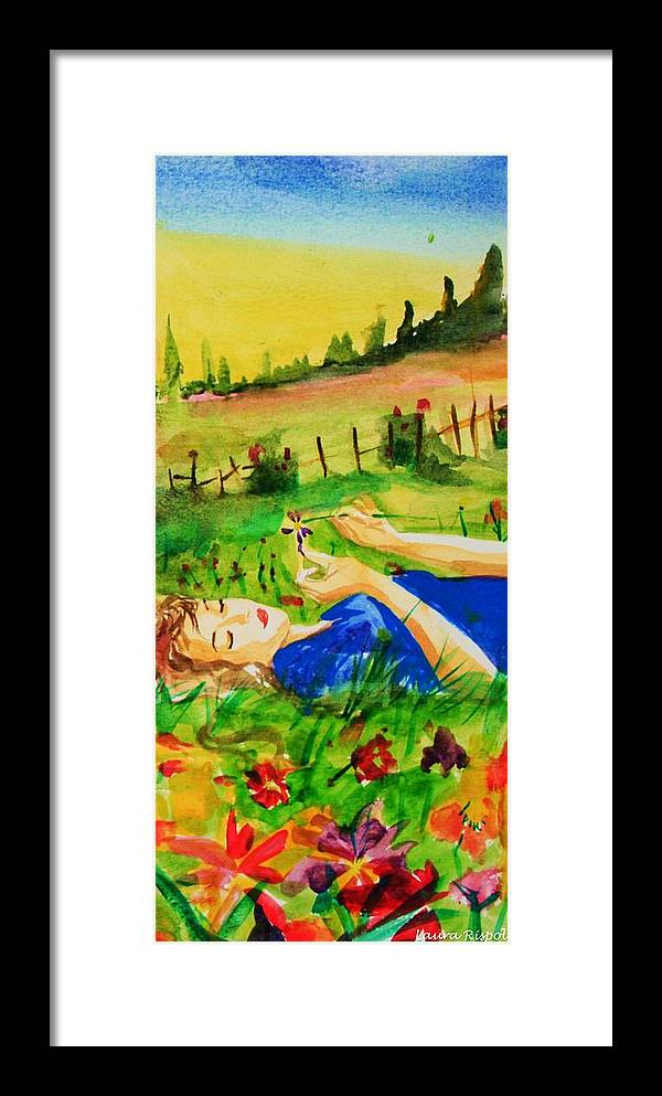 Landscape Framed Print featuring the painting Dreaming by Laura Rispoli