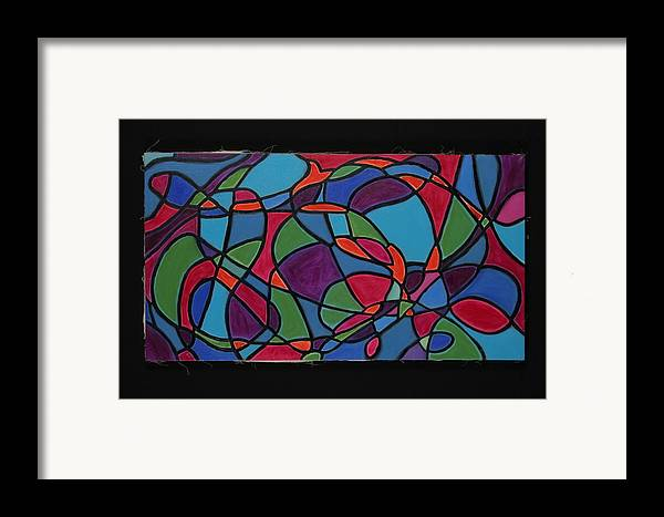 Abstract Framed Print featuring the painting Dreaming Of Matisse by Mary Silver
