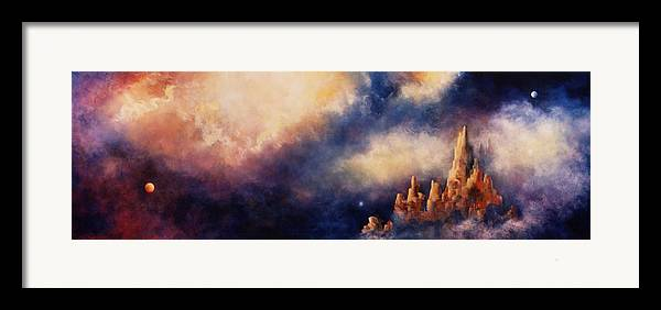 Landscape Framed Print featuring the painting Dreaming Sedona by Marina Petro