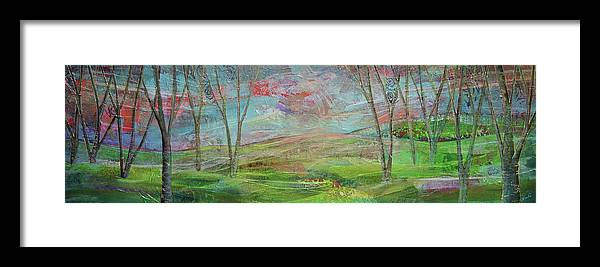 Michigan Framed Print featuring the painting Dreaming Trees by Shadia Derbyshire
