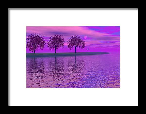 Digital Painting Framed Print featuring the painting Dreaming by Wayne Bonney