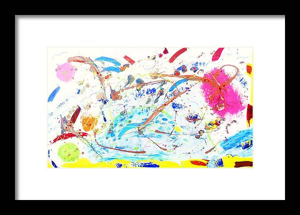 Tart Framed Print featuring the painting Dreams Of Dragons Fire by HollyWood Creation By linda zanini