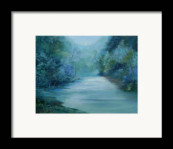 Burton River Georgia Framed Print featuring the painting Dreamsome by Ginger Concepcion