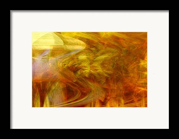 Abstract Art Framed Print featuring the digital art Dreamstate by Linda Sannuti