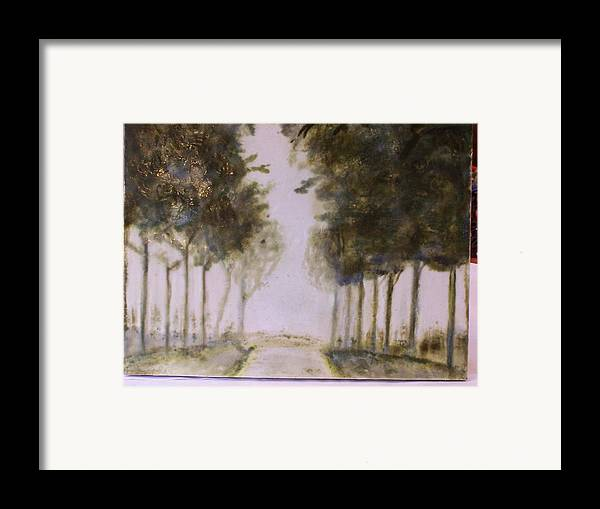 Landscape Framed Print featuring the painting Dreamy Walk by Karla Phlypo-Price